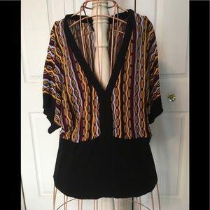 Tops - Vintage/retro v neck acrylic sweater!